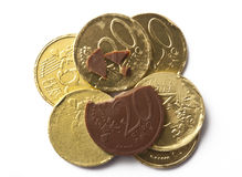 Chocolate Coins Royalty Free Stock Photography