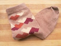 Chocolate colored sock Stock Photography