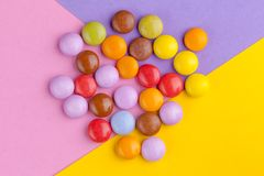 Chocolate Colorful candies royalty free stock photography