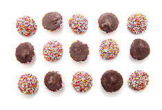 Chocolate with colorful sprinkles Royalty Free Stock Image