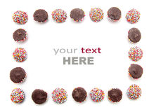 Chocolate with colorful sprinkles Royalty Free Stock Photos