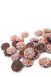 Chocolate with colorful sprinkles Stock Photo