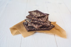 Chocolate com aditivos diferentes foto de stock