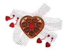 Chocolate com amor Fotografia de Stock