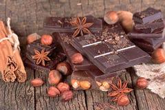 Chocolate com avelã Fotografia de Stock
