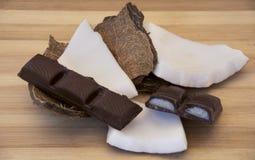 Chocolate com cocos foto de stock