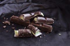 Chocolate com enchimento da hortelã Imagem de Stock