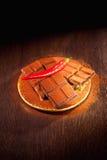 Chocolate com peperoni Foto de Stock