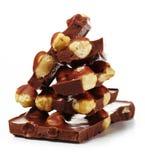 Chocolate com porcas foto de stock
