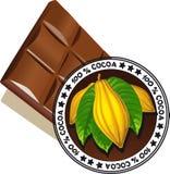 Chocolate com selo da qualidade - vector a qualidade Imagem de Stock