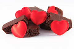Chocolate con amor Imagen de archivo libre de regalías