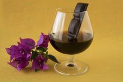 Chocolate con el coñac Fotos de archivo
