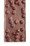 Chocolate con el huzelnut Foto de archivo