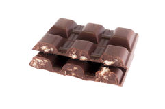 Chocolate con la galleta Fotos de archivo