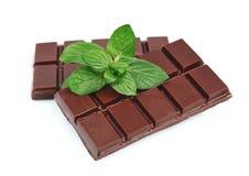 Chocolate con la menta imagen de archivo