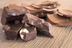 Chocolate con las avellanas Foto de archivo libre de regalías