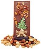 Chocolate con las tuercas. Imágenes de archivo libres de regalías