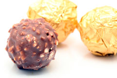 Chocolate con las tuercas Imágenes de archivo libres de regalías