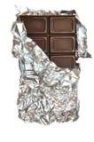 Chocolate con leche en hoja Fotos de archivo