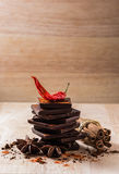 Chocolate and Condiment Royalty Free Stock Photos