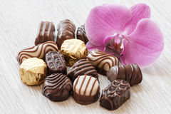 Chocolate confectionery Stock Images