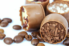 Chocolate confectionery with coffee beans Royalty Free Stock Photo