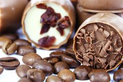 Chocolate confectionery with coffee beans Stock Image