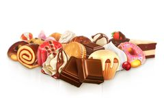 Chocolate, confectionery vector illustration Royalty Free Stock Images