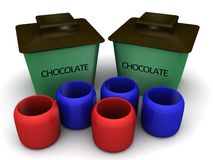 Chocolate container Stock Photography