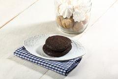 Chocolate cookie Stock Image