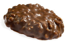 Chocolate cookie. Isolated on the white background Royalty Free Stock Photos