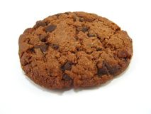 Chocolate cookie. Some chocolate cookie over a white background Royalty Free Stock Image
