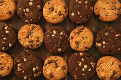 Chocolate cookie biscuits Stock Image