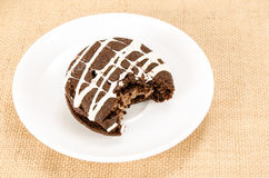 Chocolate cookie cake Stock Images