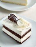 Chocolate cookie cake on plate Stock Photos