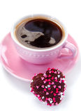 Chocolate cookie and coffee Royalty Free Stock Images