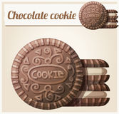 Chocolate cookie 2. Detailed vector icon. Series of food and ingredients for cooking vector illustration
