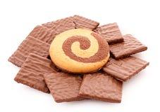 Chocolate cookie isolated Stock Photo
