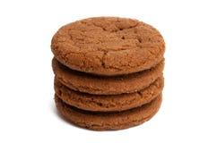 Chocolate Cookie Isolated Stock Photos