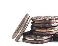 Chocolate Cookie Pile Close Up Royalty Free Stock Images