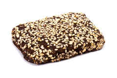 Chocolate cookie with sesame Royalty Free Stock Photography