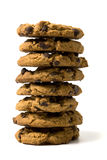 Chocolate cookie tower Royalty Free Stock Photo