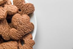 Chocolate cookies background Stock Photo