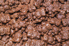 Chocolate cookies bears backdrop royalty free stock photo