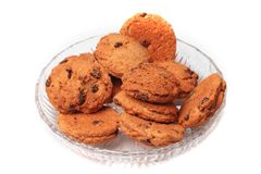 Chocolate cookies in bowl Stock Image