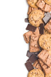 Chocolate cookies and brownies Royalty Free Stock Photography