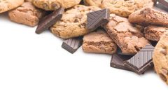 Chocolate cookies and brownies Royalty Free Stock Images