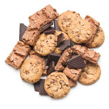 Chocolate cookies and brownies Stock Photography