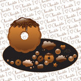 Chocolate cookies and candies Stock Photo