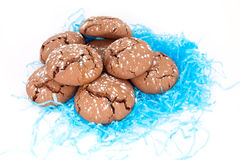 Chocolate cookies with caramel Royalty Free Stock Image